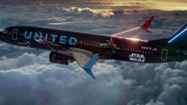 Sneak a Peek Inside United Airlines' Star Wars-Themed Airplane 1