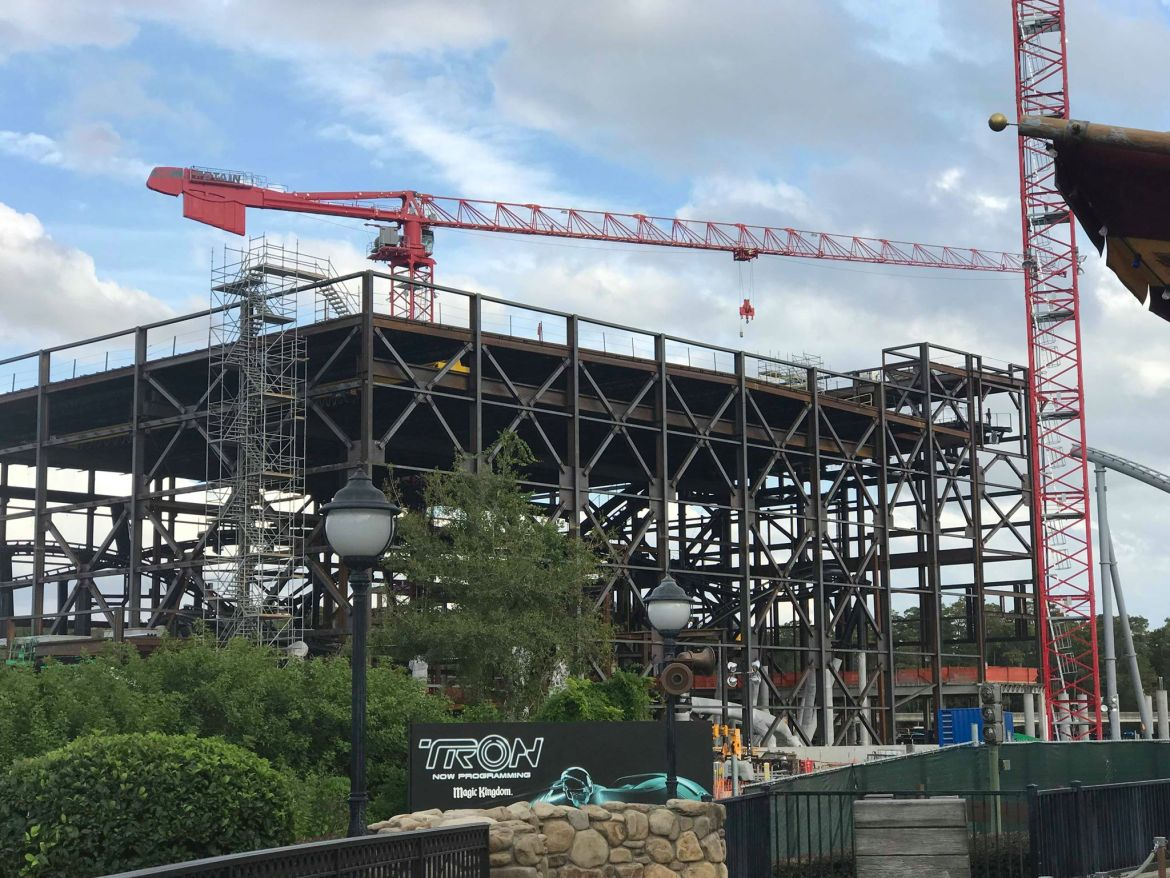 Photos: Update on Magic Kingdom's Tron Coaster