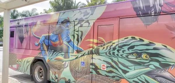 New Pandora-Themed Bus Spotted at Walt Disney World 1