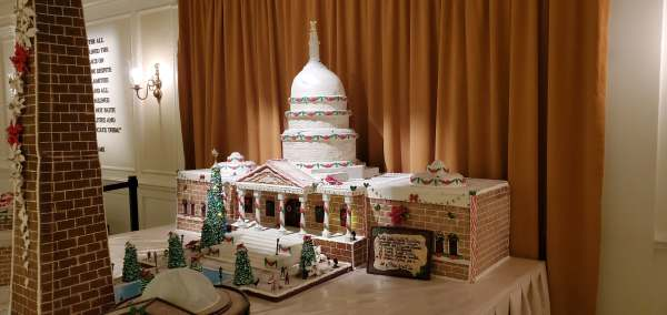 Epcot's America Pavilion Stuns with Its Gingerbread Display 2