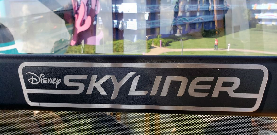 Photos: Disney Skyliner Emergency Info Posted in Gondola