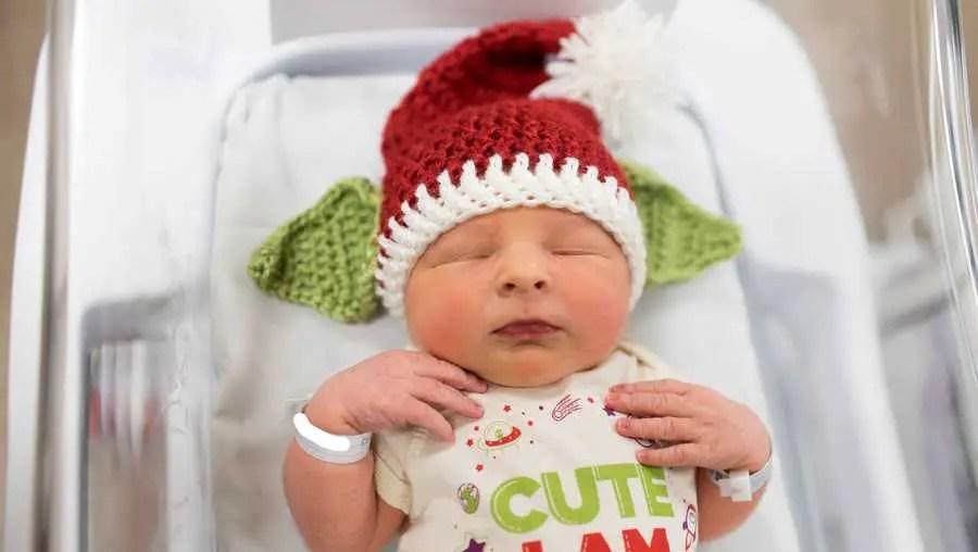 UPMC Magee-Womens Hospital dresses up newborns as Baby Yoda