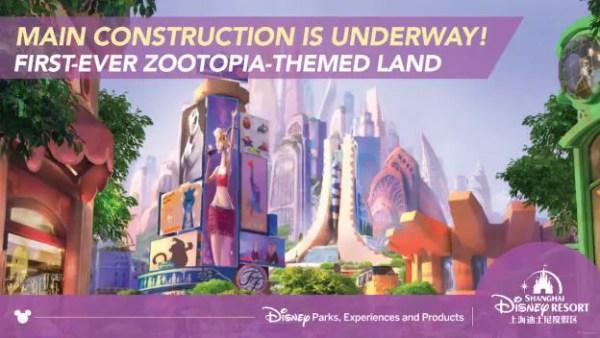 Video: 'Zootopia' Main Construction Begins at Shanghai