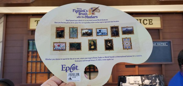 2020 Epcot Festival of the Arts Figment's Brush with the Masters Scavenger Hunt 3