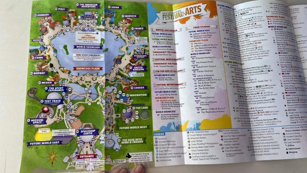 Epcot's International Festival of the Arts Map Debuts on Opening Day 2