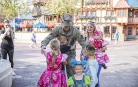 Family Gets Surprised at Disney from Army Dad Returning from Deployment