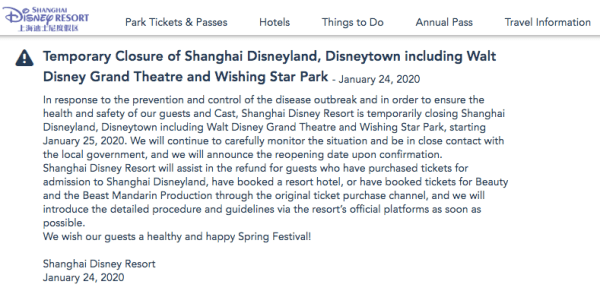 Shanghai Disneyland Closing For The Prevention And Control Of The Coronavirus 2