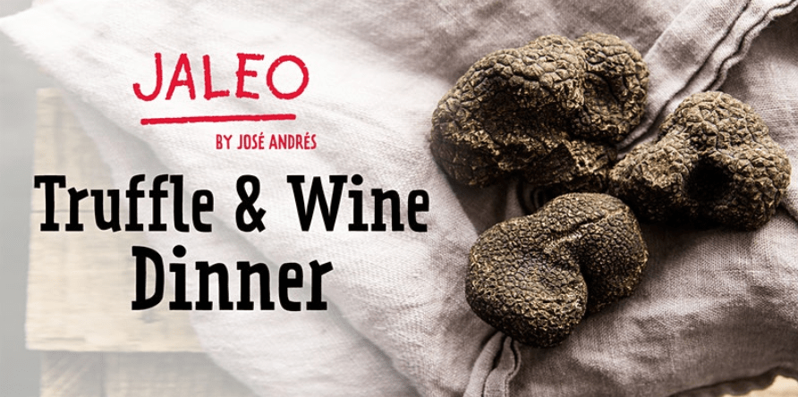 Truffle and Wine Dinner Coming to Jaleo in Disney Springs