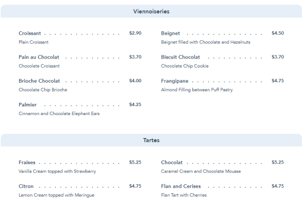 Les Halles Boulangerie and Patisserie in Epcot Updates Their Menu 4