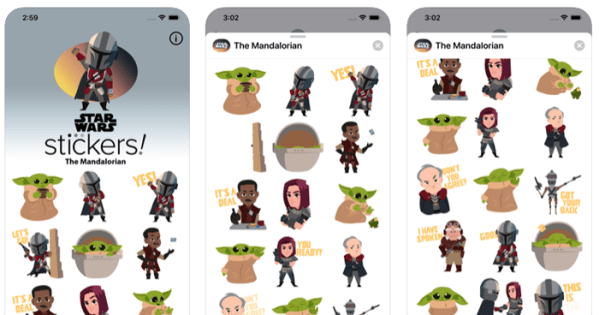 The Mandalorian Stickers Now Available on iOS Devices 1