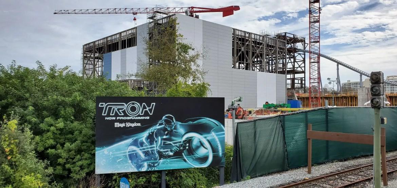 Magic Kingdom's Tron Coaster likely delayed till 2022