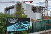 Construction Update: Walls Are Going Up For The TRON Roller Coaster