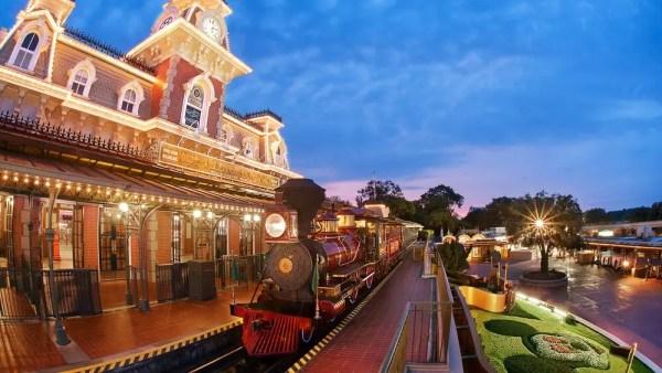 Walt Disney World Railroad Photo Opportunity Moving to Fantasyland 1