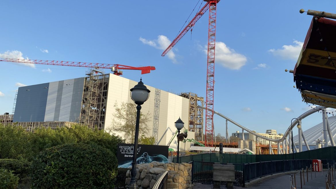 Construction Update: 'TRON' Coaster February 2020