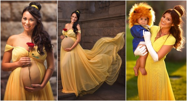 Magical Maternity Photo Shoots Turned These Expectant Moms Into Disney Princesses 3