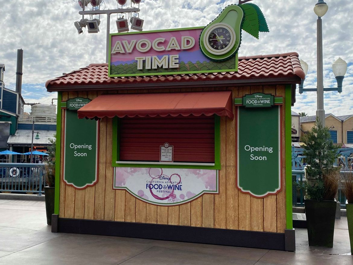 Disney California Adventure Food and Wine Food Booths are Going Up