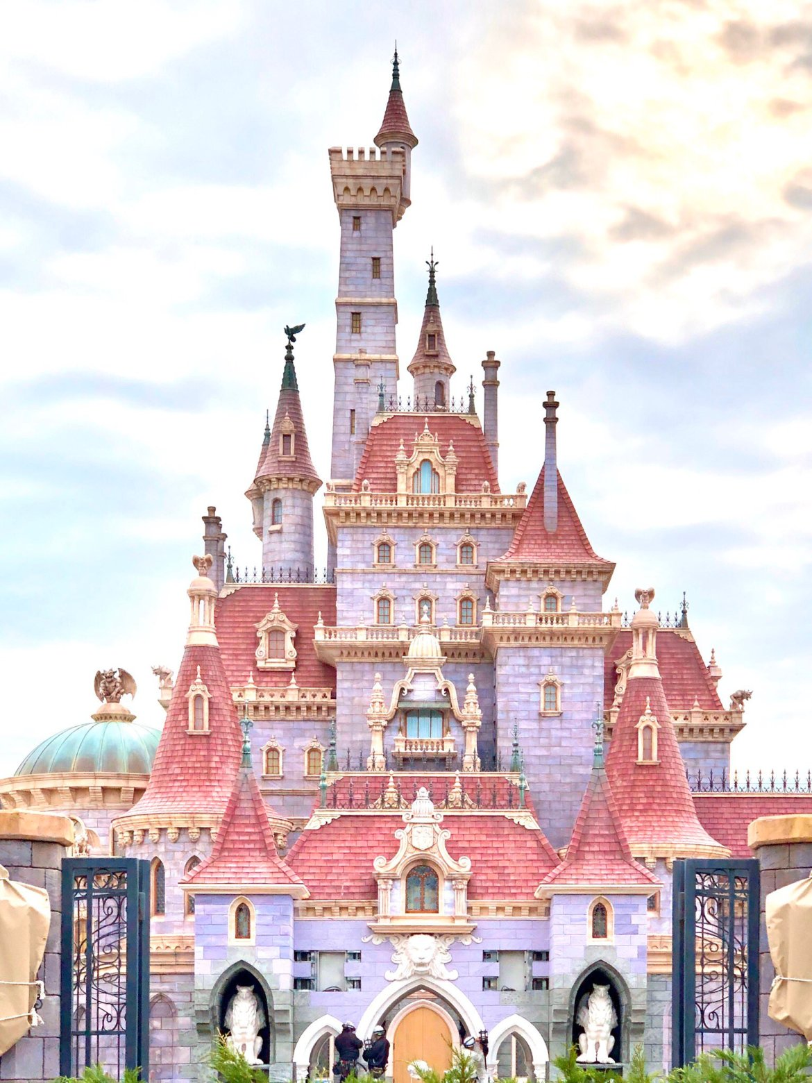 First Look at Beauty and the Beast Castle at Tokyo Disneyland