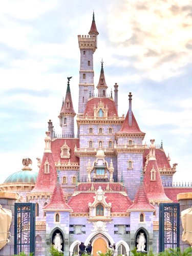 First Look at Beauty and the Beast Castle at Tokyo Disneyland 1