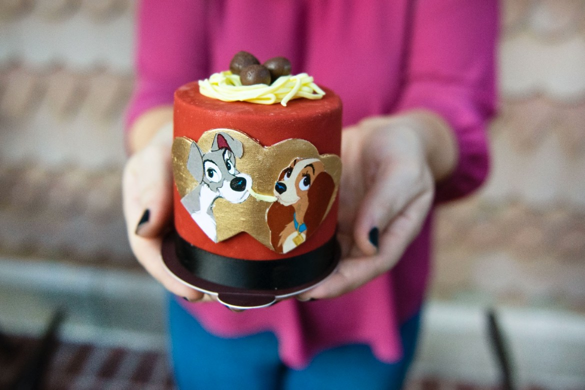Lady And The Tramp Cake And Sweet Treats At Disney Springs