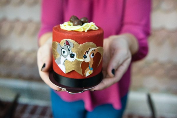 Lady And The Tramp Cake And Sweet Treats At Disney Springs 1