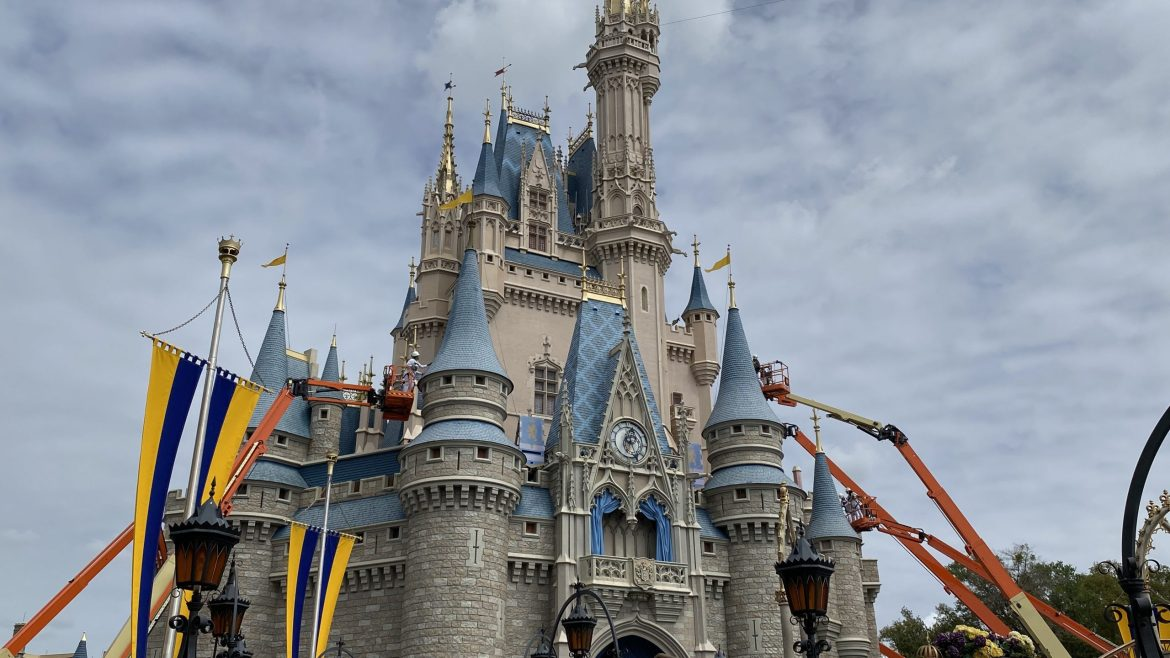 Cinderella's Castle Makeover Has Started At Magic Kingdom