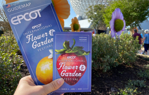 2020 Epcot Flower & Garden Park Map & Passport 1