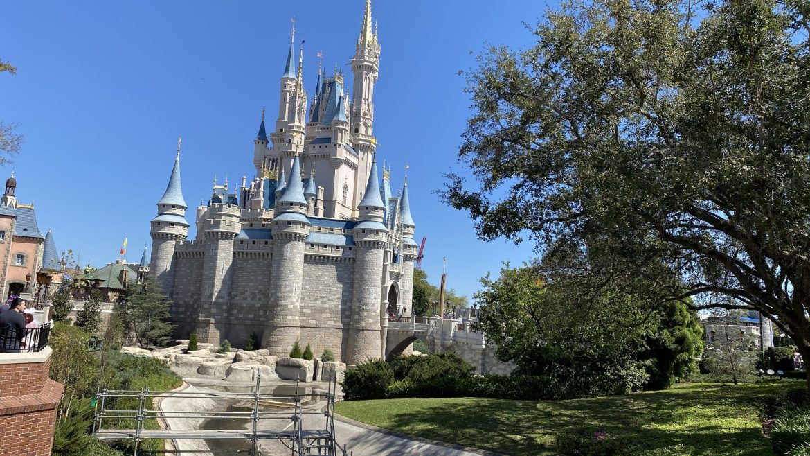 Moat At Magic Kingdom Drained In Preparation For Castle Updates