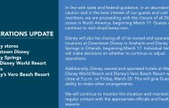 More Disney World Closures including Disney Stores, Hotels, Disney Springs and More
