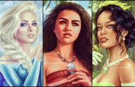 Artist Re-Imagines Real Life Actresses as the Disney Princesses
