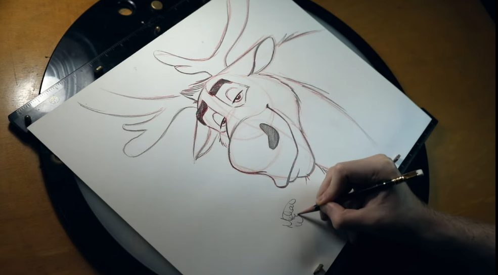 How To Draw Sven From Frozen 2 From A Disney Animator!