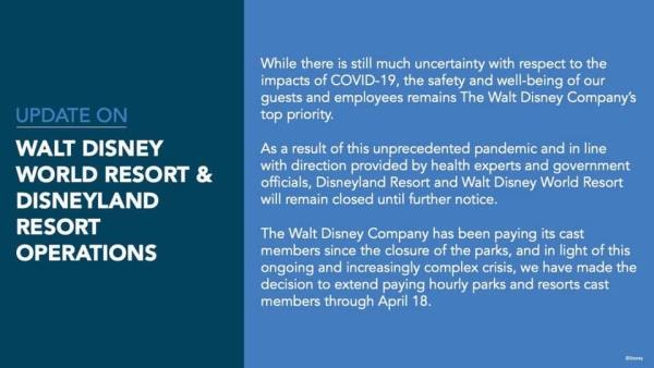 Disney World to Remain Closed Until Further Notice 2