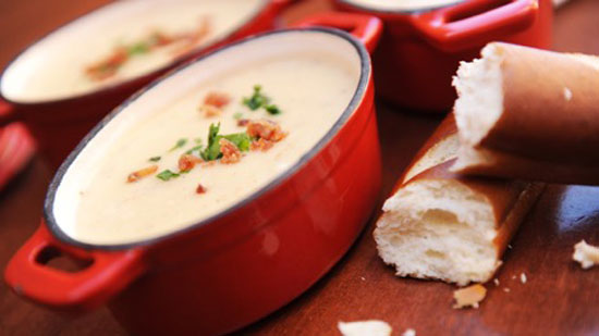 Le Cellier's Canadian Cheddar Cheese Soup Recipe