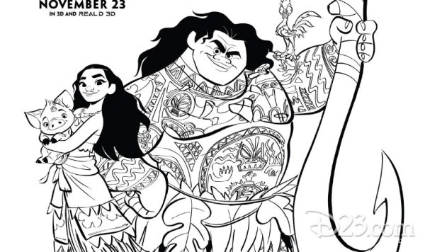 See How Far Your Creativity Will Go With These Moana Coloring Pages 7