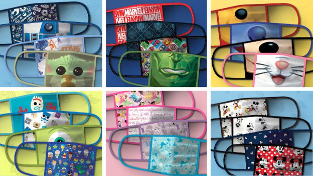 Disney Introduces Amazing Cloth Disney Face Masks for sale on ShopDisney