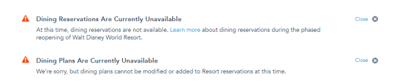 Disney World Cancels Disney Dining Plan and Suspends Character Dining 1