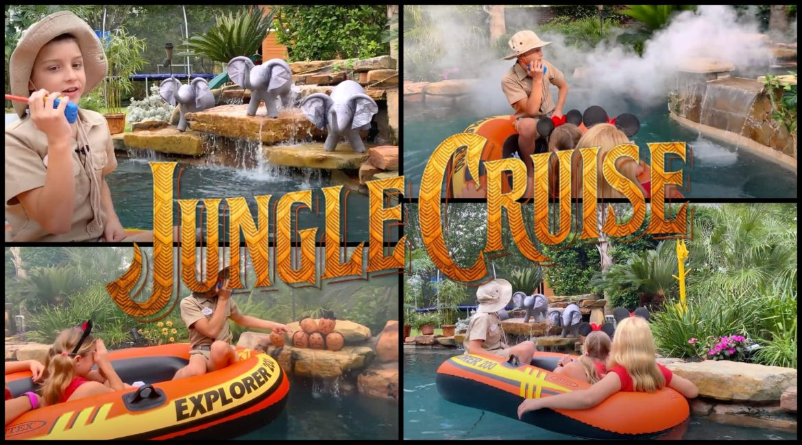 Disney Fans Magically Transform their Pool into the Jungle Cruise from the Disney Parks