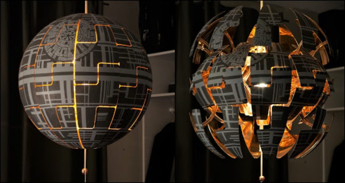 Make Your Very Own Exploding Death Star from Star Wars with this IKEA Hack
