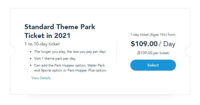 2021 Disney World Standard Theme Park & Florida Resident Tickets go on sale TODAY 2021 Theme Park Ticket