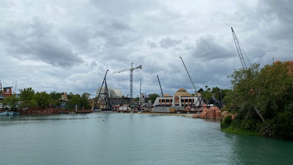 Universal's Jurassic Park 'Velocicoaster' Construction Update 3