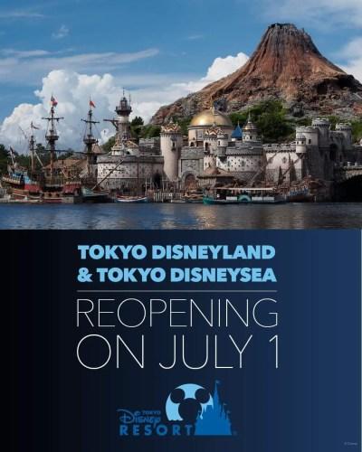 Tokyo Disneyland and Tokyo DisneySea reopen July 1, 2020 1