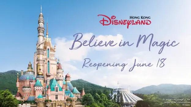 Hong Kong Disneyland Announces Reopening on June 18th