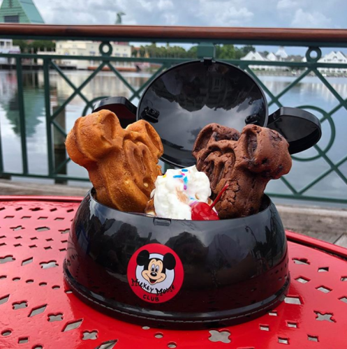 New Mickey Waffle Ice Cream Sundae Debuts at Walt Disney World