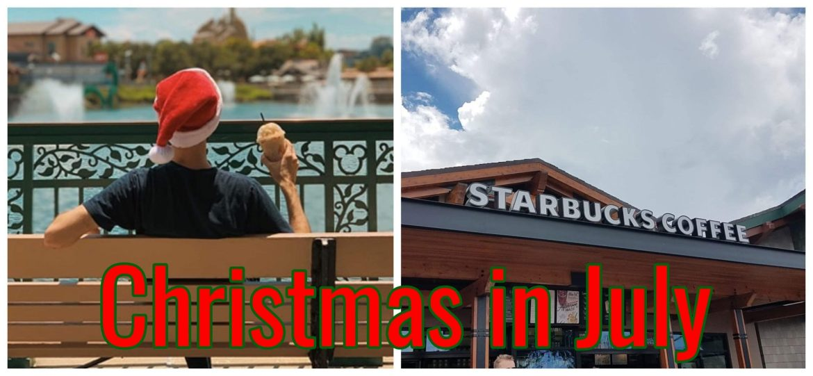 Starbucks Christmas Menu at Disney Springs
