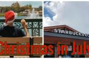 Starbucks Christmas Menu at Disney Springs