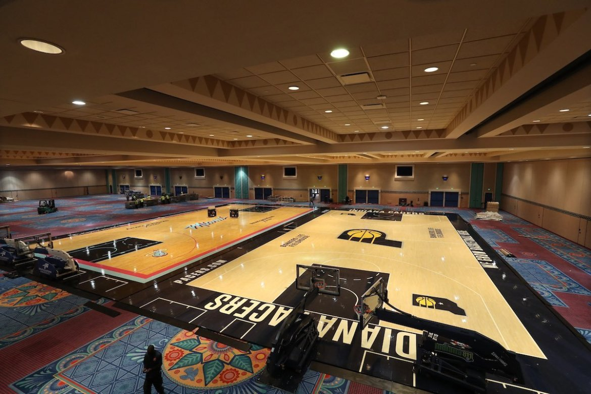 New NBA practice courts installed at Disney