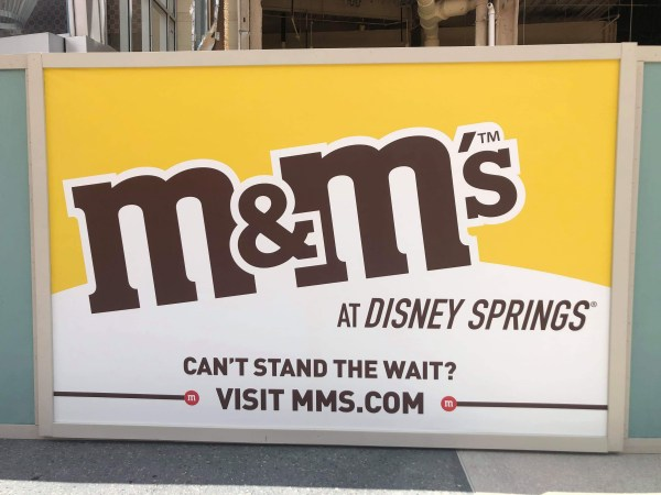 M&M's Store constuction update for Disney Springs Disney Springs