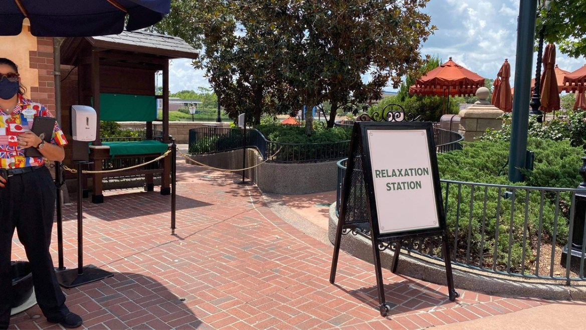 Relaxation Stations in Epcot are the perfect way to take a break