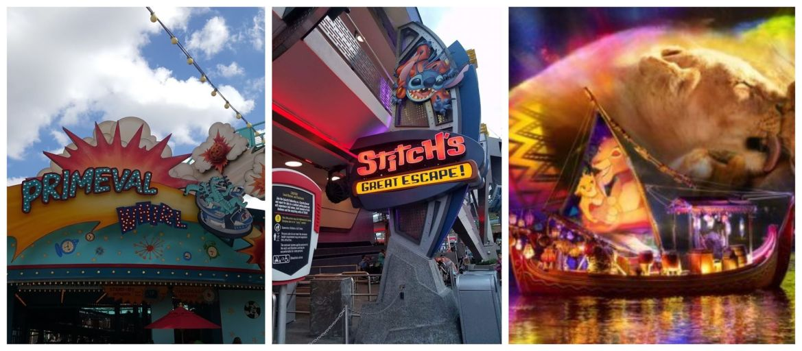 Primeval Whirl, Stitch's Great Escape and Rivers of Light are now permanently closed!