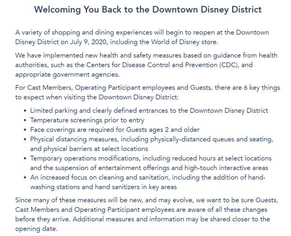 Downtown Disney still Reopening on July 9th Despite Climb in COVID-19 Cases 1