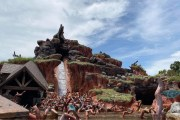 Social Distancing Measures for Splash Mountain at Magic Kingdom
